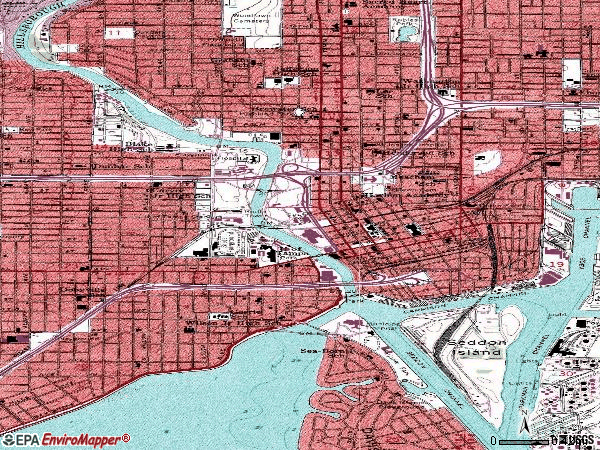 Zip code 33602 topographic map