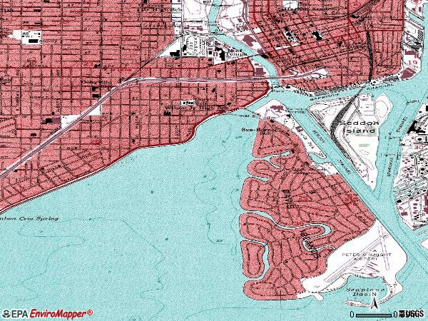 Zip code 33606 topographic map