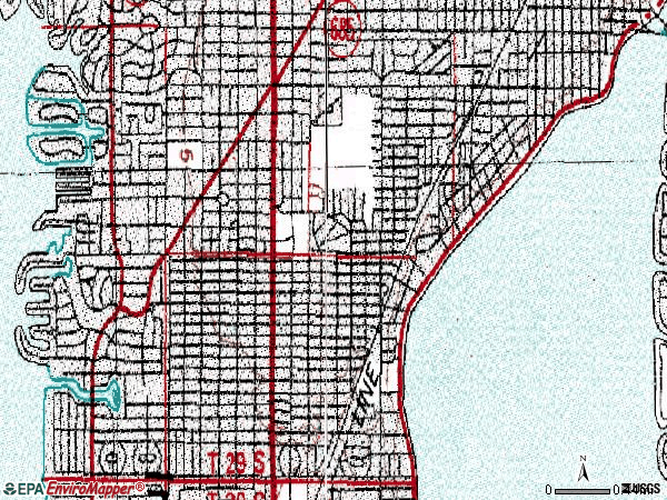 Zip code 33629 topographic map