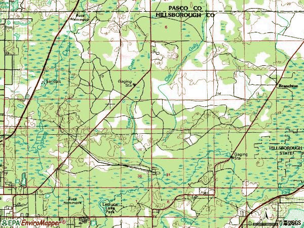 Zip code 33647 topographic map