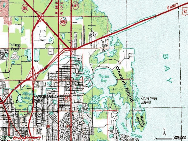 Zip code 33702 topographic map