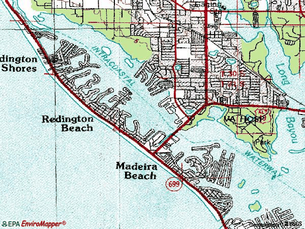 Zip code 33708 topographic map