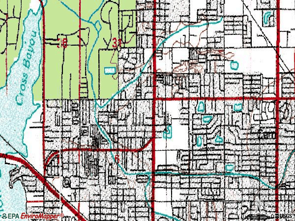 Zip code 33709 topographic map