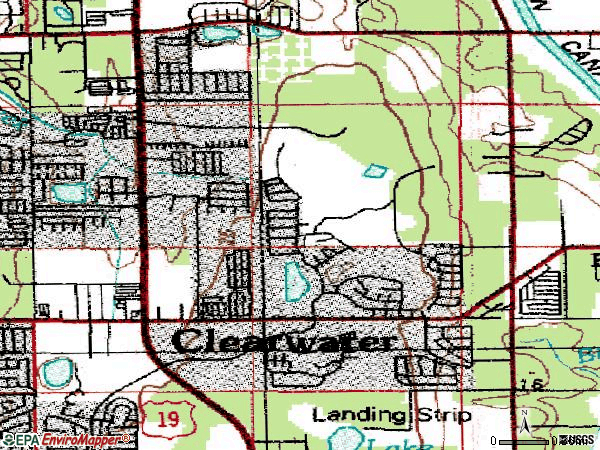 Zip code 33761 topographic map