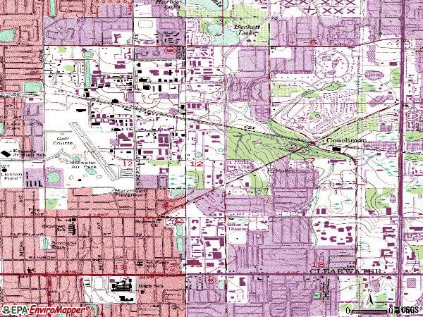 Zip code 33765 topographic map