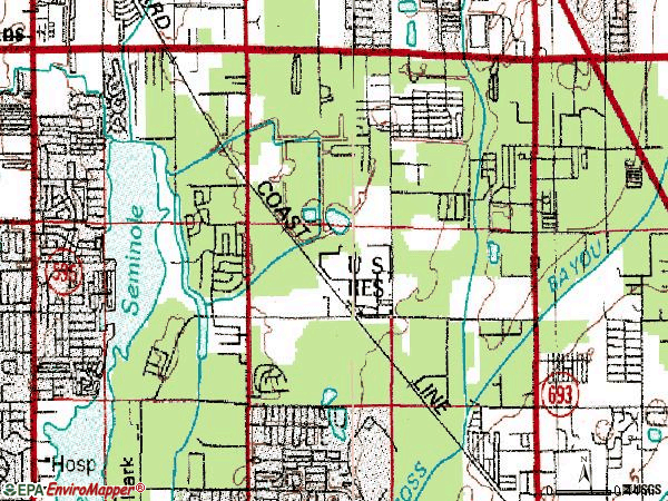 Zip code 33773 topographic map