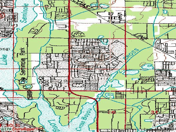 Zip code 33777 topographic map
