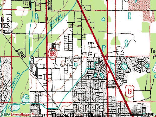 Zip code 33782 topographic map