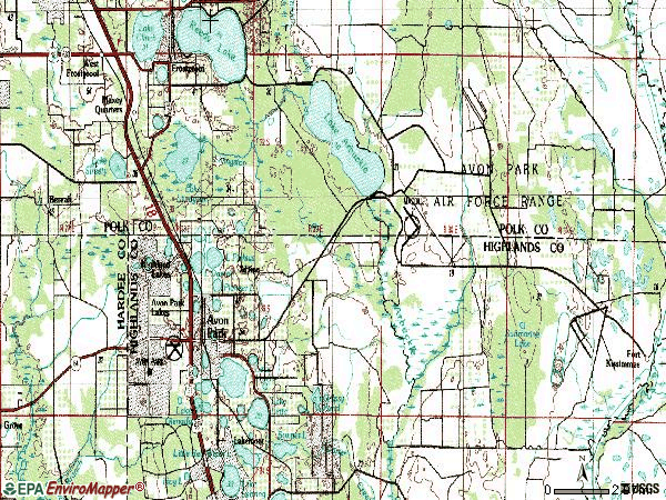 Zip code 33825 topographic map