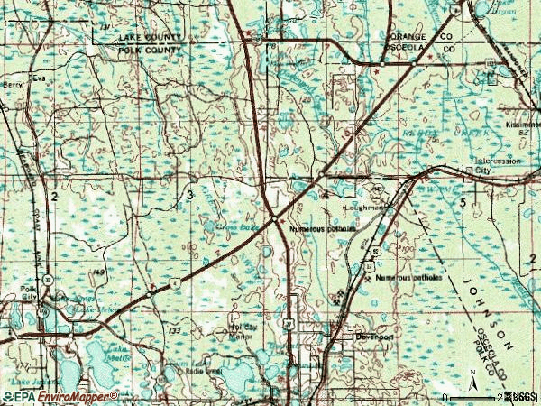 Zip code 33837 topographic map