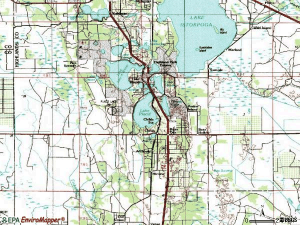 Zip code 33852 topographic map