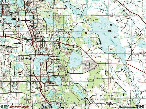 Zip code 33853 topographic map