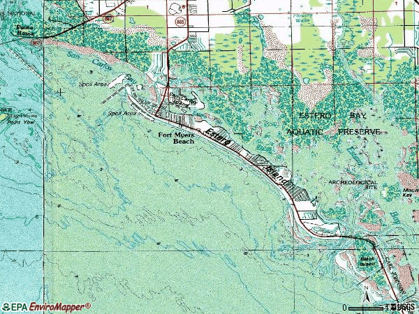 Zip code 33928 topographic map
