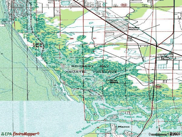 Zip code 34113 topographic map