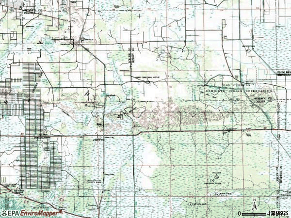 Zip code 34142 topographic map