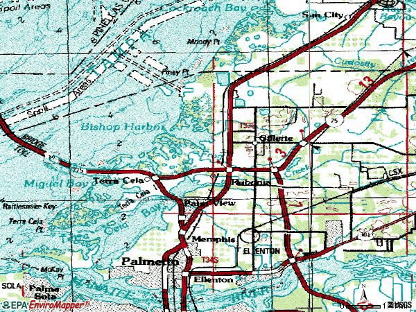 Zip code 34221 topographic map