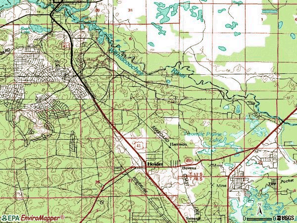 Zip code 34434 topographic map