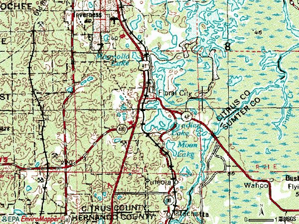 Zip code 34436 topographic map