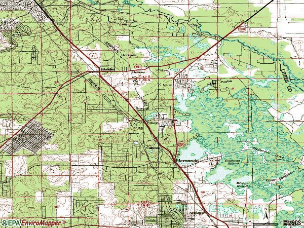 Zip code 34442 topographic map