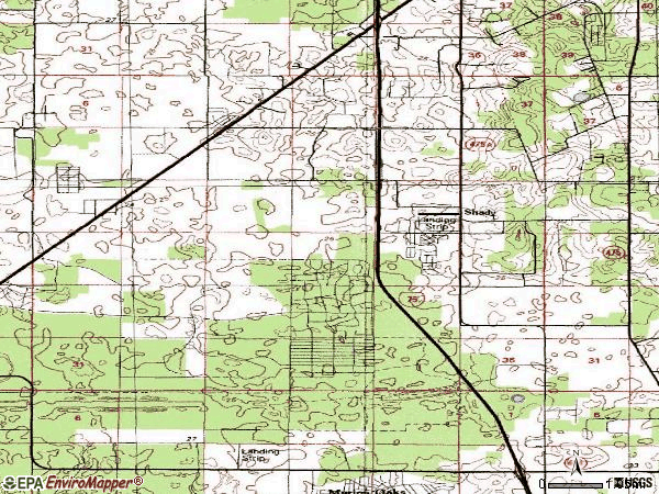 Zip code 34476 topographic map