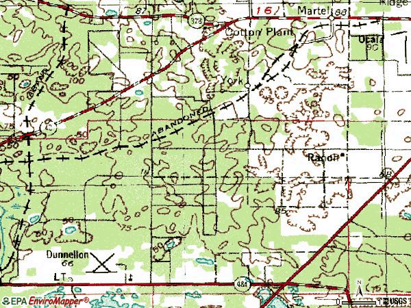 Zip code 34481 topographic map