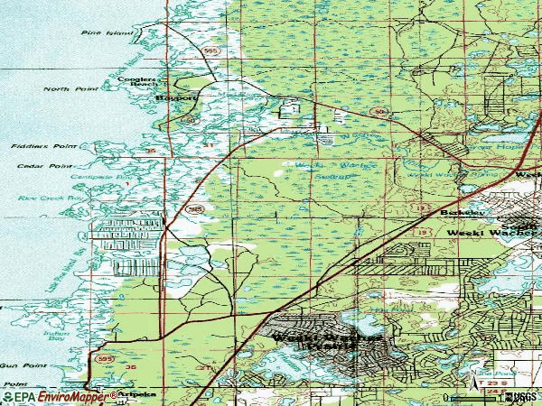 Zip code 34607 topographic map