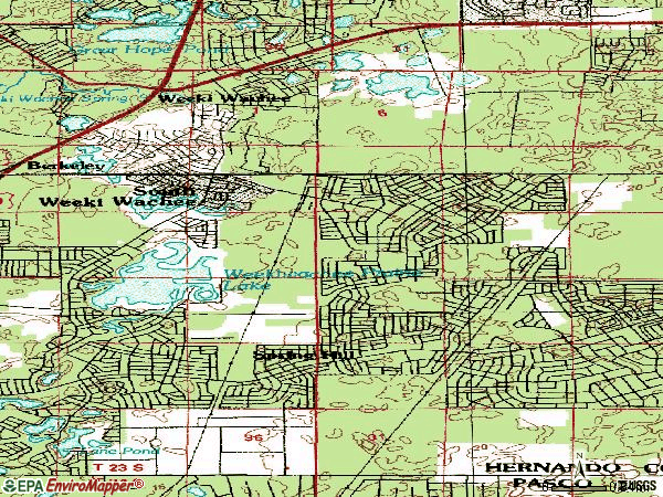 Zip code 34608 topographic map