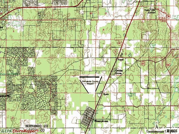 Zip code 34609 topographic map