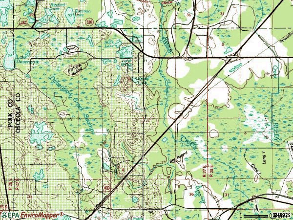 Zip code 34747 topographic map