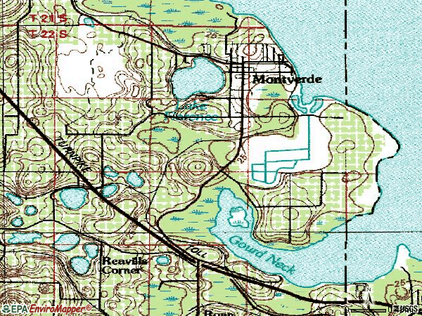 Zip code 34756 topographic map