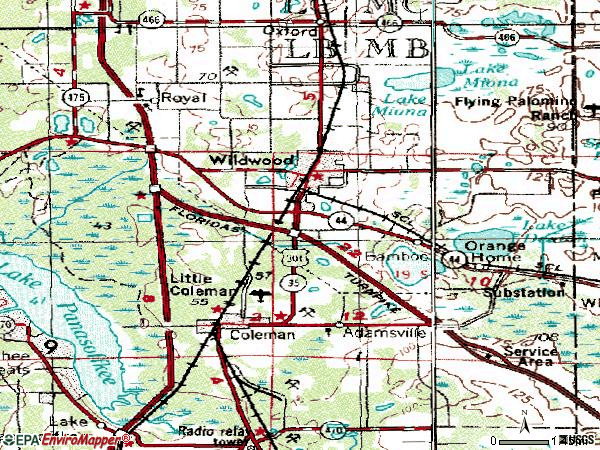 Zip code 34785 topographic map