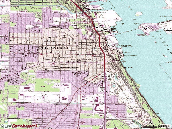 Zip code 34950 topographic map