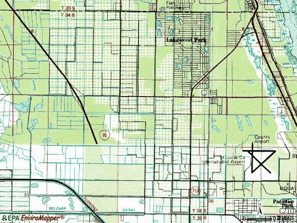 Zip code 34951 topographic map