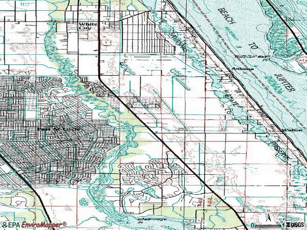 Zip code 34952 topographic map