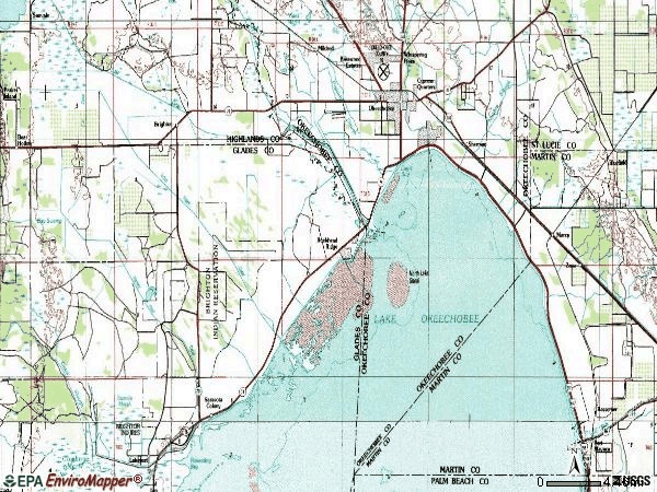 Zip code 34974 topographic map