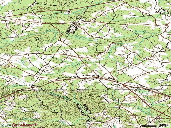 Zip code 30011 topographic map