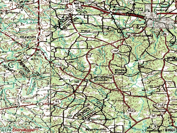 Zip code 30016 topographic map