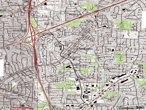 Zip code 30021 topographic map