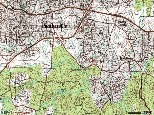 Zip code 30034 topographic map