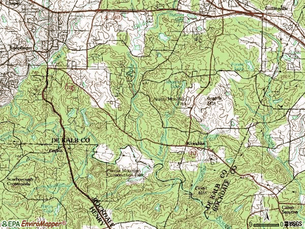 Zip code 30038 topographic map