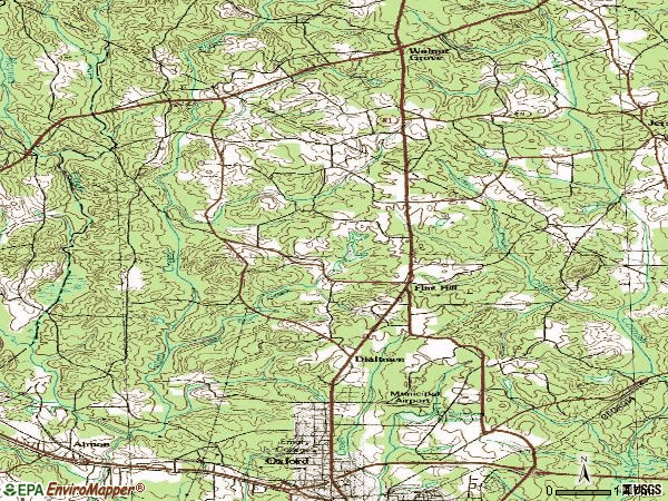 Zip code 30054 topographic map