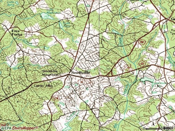 Zip code 30078 topographic map