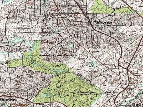 Zip code 30082 topographic map