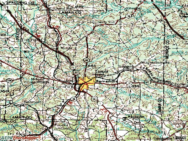 Zip code 30204 topographic map