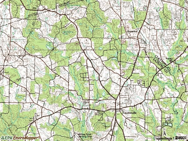 Zip code 30214 topographic map