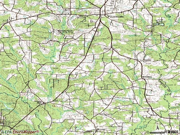 Zip code 30215 topographic map
