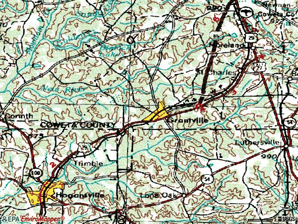 Zip code 30220 topographic map