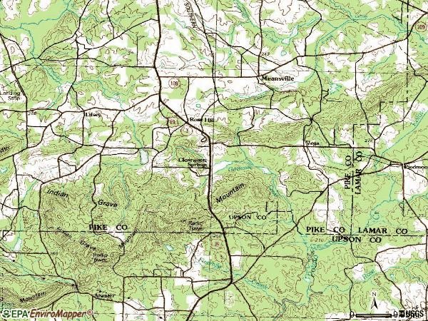 Zip code 30256 topographic map
