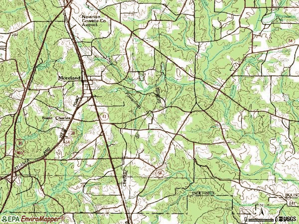 Zip code 30259 topographic map