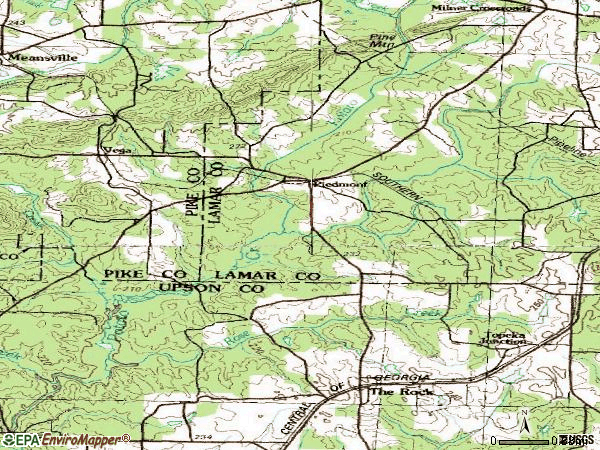 Zip code 30285 topographic map